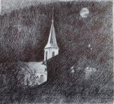 Saint-Jean d'Aulps - Croquis de Monique Brochet