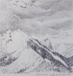 Les Alpes - croquis - Monique Brochet